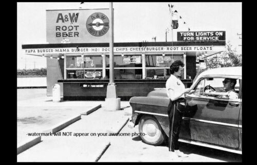 A/&W Root Beer Burger Joint PHOTO Diner Soda Fountain Drive-in Restaurant Car Hop
