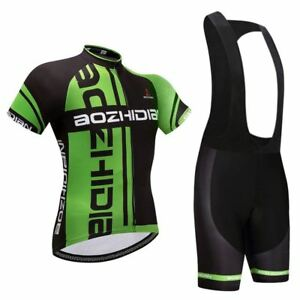 Shorts Padded Kit Bib Summer Cycling Set Men/'s Bike MTB Jersey and Cycle