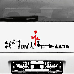 Depeche-Mode-Tour-Motivos-Set-Negro-Rojo-Pegatina-Tatuaje-Coche-Heck-Deco-Folio