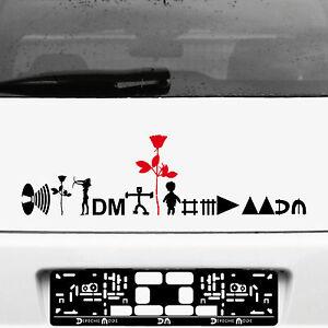 Depeche-Mode-Tour-Motifs-Set-Black-Red-Tattoo-Sticker-Car-Rear-Decor-Film