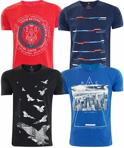Homme-de-marque-smith-et-jones-t-shirt-imprime-coton-casual-tee-summer-top