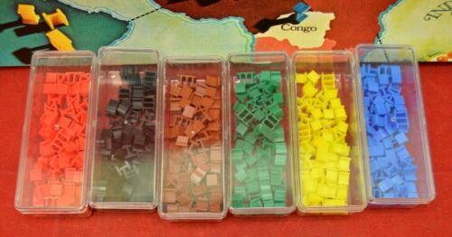 Original 1980 Parker Brother Risk Game Army piece Blue w//case set Part Lot 4214