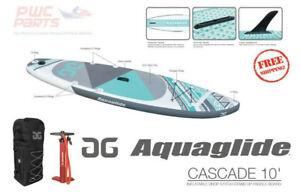 AQUAGLIDE CASCADE 10' SUP Package Pump Bag Fins Paddle Board 58-5418104