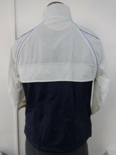 White Large Running Windbreaker Youth Lightweight Jacket Zip Lotto Blue Vintage axtwXHpw