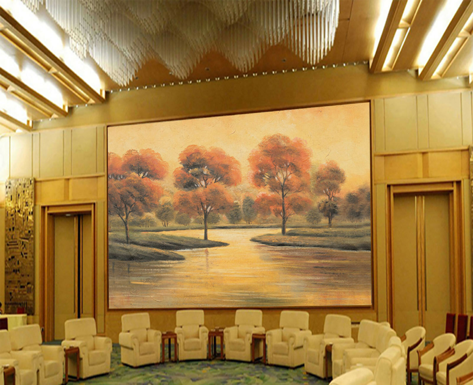 3D River Trees Sky 45 Wall Paper Wall Print Decal Wall Deco Indoor Mural Carly