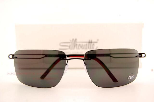 New Silhouette Sunglasses SUN TITAN PROFILE 8672 6200 Black Matt Polarized