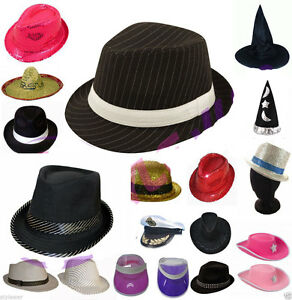 9638d9dce48 Image is loading New-Adult-Unisex-Hats-Bowler-Trilby-Gangster-Santa-