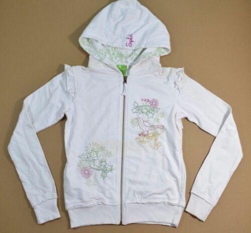 Split BIRDY White Green Pink Embroidery Zip Up Sweatshirt Skate Junior/'s Hoodie