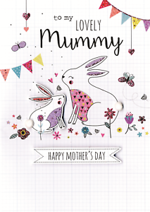 Mummy Mother S Day Card Just To Say Embellished Mothers Day Greeting