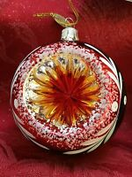 Flawless Exceptional Pier 1 Imports Glass Ball Reflector Christmas Ornament