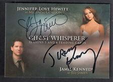 GHOST WHISPERER 3&4 AUTOGRAPH CARD #A JLHJK JENNIFER LOVE HEWITT & JAMIE KENNEDY
