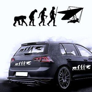 autocollant pour voiture sticker film de evolution paragliding paragleiten ebay. Black Bedroom Furniture Sets. Home Design Ideas