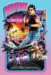 Plaque métal  film culte Miami collection  30 X 20 CM