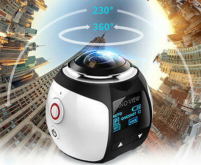 360 PANORAMICA 30FPS WIFI SPORT ACTION CAMERA SUBACQUEA 16MP VIDEOCAMERA V1