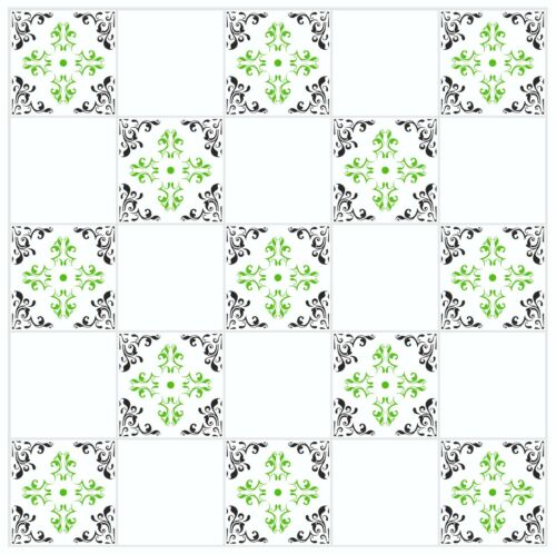 """Mosaic Pattern Stickers Transfers For 200mm x 200mm /& 8/"""" x 8/"""" inch Tiles GT24"""