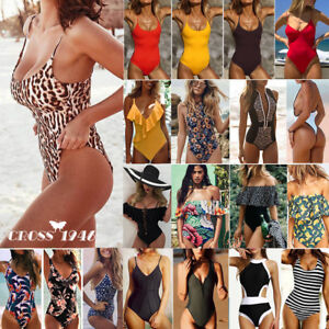 6c3d822c4116 2019 Sexy Women One-Piece Swimsuit Swimwear Push-up Monokini Bikini ...