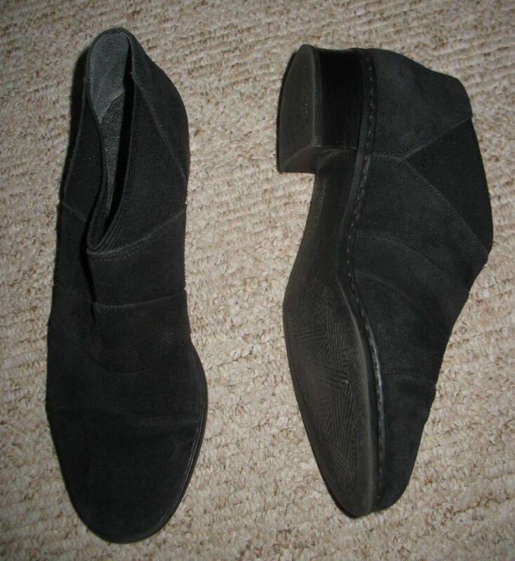 Liefern Schwarze Elegante Leder-stiefelette Gr. 6 Rieker Damen-schuh Dehneinsatz Profitieren Sie Klein