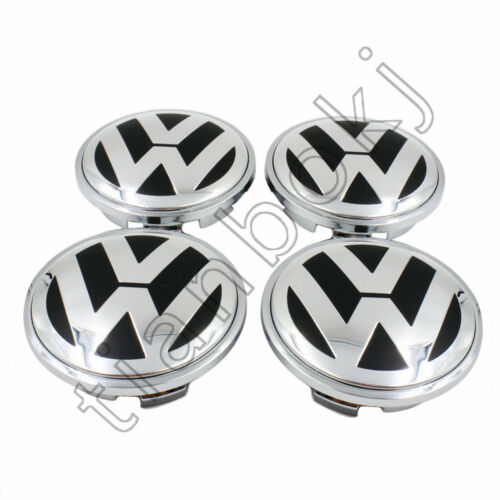 4pcs 65mm Chrome Center Wheels Hub Caps Logo Fit for VW VOLKSWAGEN Free shipping