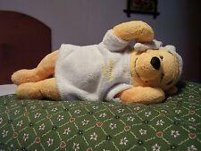 PELUCHE VINTAGE WINNIE THE POOH che dorme in pigiama altezza cm.22