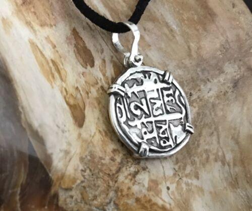 ATOCHA Coin Design 1600-1700 Pendant 925 Sterling Silver Sunken Treasure Jewelry