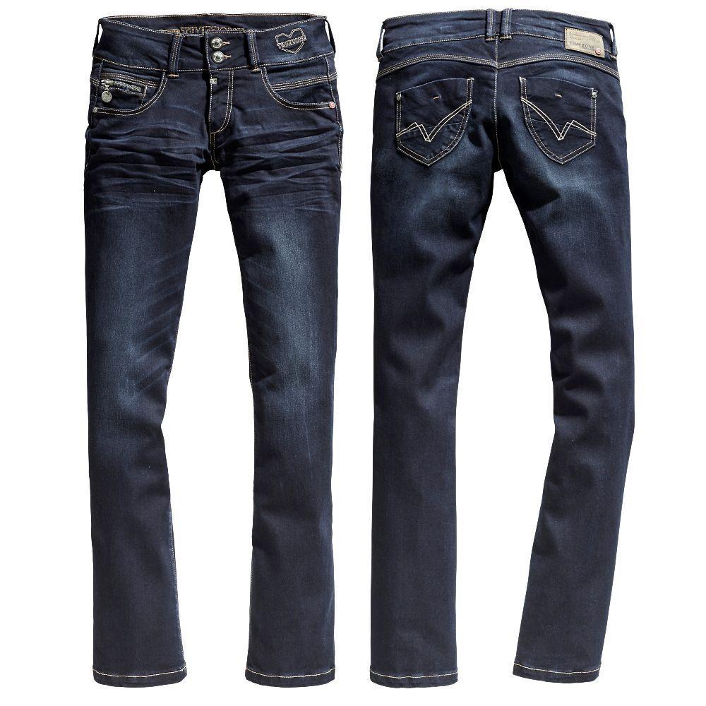 Timezone Damen Stiefelcut Jeans 16-5634 Greta Hose Pants Röhre Stretch Freizeit