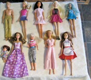Barbie-Doll-Lot-10-Dressed-Barbie-amp-Friends-Dolls-Lot-2