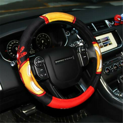 Marvel Car Steering Wheel Cover Thicken Universal Non-slip Plush Handle Cover