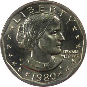 1980 D Susan B Anthony Dollar BU Uncirculated Mint State SBA $1 US Coin
