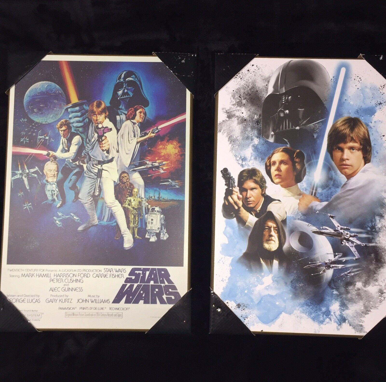 """RARE"" 1977 Star Wars Wooden Wall Art Plaque"