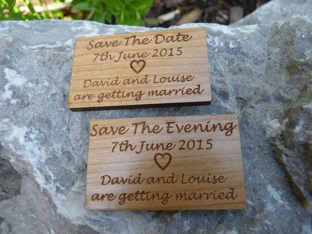 Save The Date  &  Save The Evening  Wedding Fridge magnets