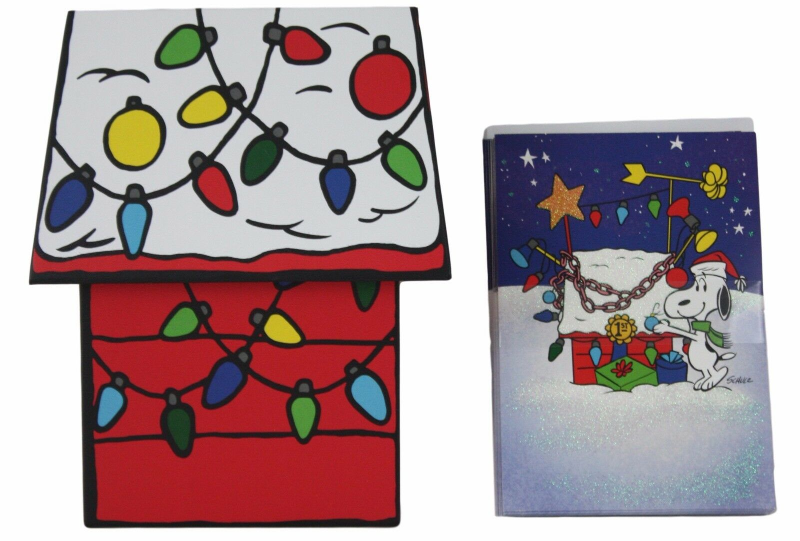 Hallmark Snoopy Doghouse Boxed Christmas Cards 16 Count New ...