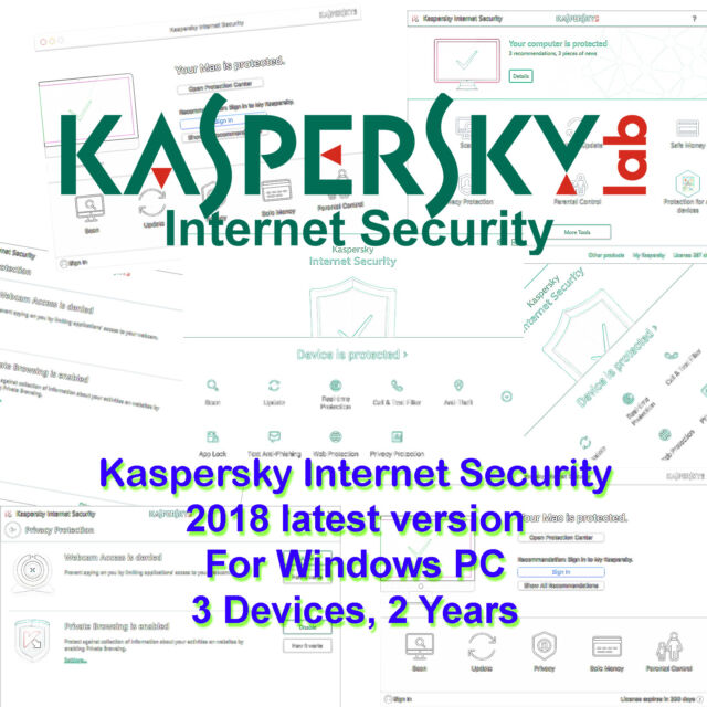 Kaspersky Internet Security 2017 3 Devices 2 Year for ...