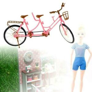 Miniature Dollhouse Plastic Bicycle Bike Two-seats DIY Doll Accessories Toys