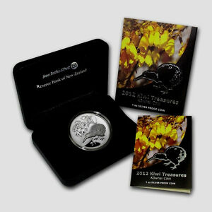 New-Zealand-2012-Silver-1-Proof-Coin-1-OZ-Kiwi-Treasures