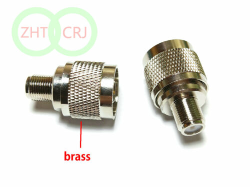 50pcs brass N type male plug to F female jack straight RF Coaxial connector