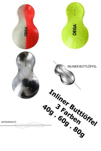 INLINER-Butt-Löffel  Locklöffel zum Plattfischangeln   Farben//Gewicht wählbar UV