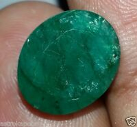 4.98 CT NATURAL GREEN EMERALD AWESOME QUALITY FANTASTIC GEMSTONE RING USE EBO5