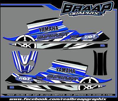 Yamaha SuperJet Graphics Decal Kit Blue RN