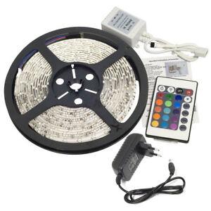 Tira-LED-5M-300-3528-SMD-RGB-Control-Remoto-Impermeable-Decoracion-Luz-de-T-Q3S7