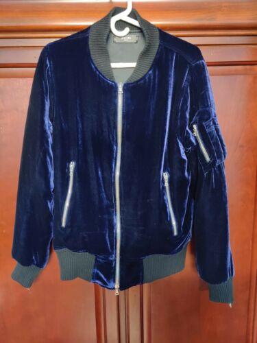 Amiri Silk Velvet Bomber Royal Blue Jacket Size Me