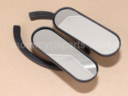 Black Rearview Mini Oval Mirrors for Harley Davidson Bobber Cafe Racer Cruiser
