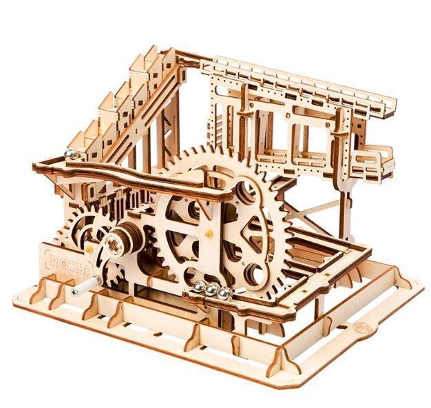 3D Wooden Puzzle Cog Coaster Magic Creative Marble Run Game Building Kits Model