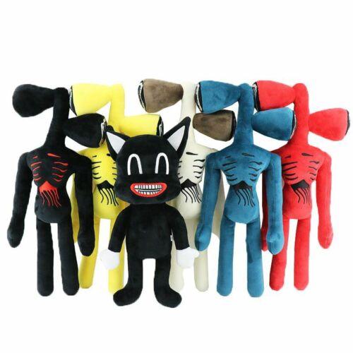 Cartoon Siren Head Cat Plush Toy Stuffed Anime Doll Horror Kid Christmas Gift