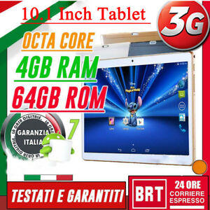 Nuevo 10.1 '' Tablet Pc Android 6.0 2Ghz Octa Core 4G + 64G HD Wifi Dual Camera