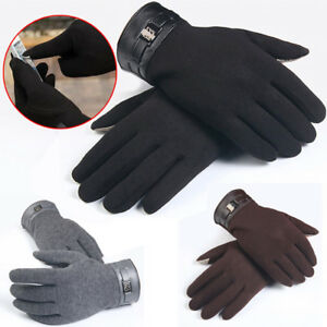 Mens-Full-Finger-Smartphone-Touch-Screen-Cashmere-Winter-warm-Gloves-Mittens-New