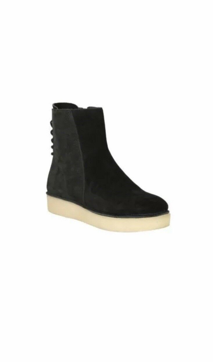 Clarks Originals Timberly Grace Black Leather Women's Boots Size UK 5 D