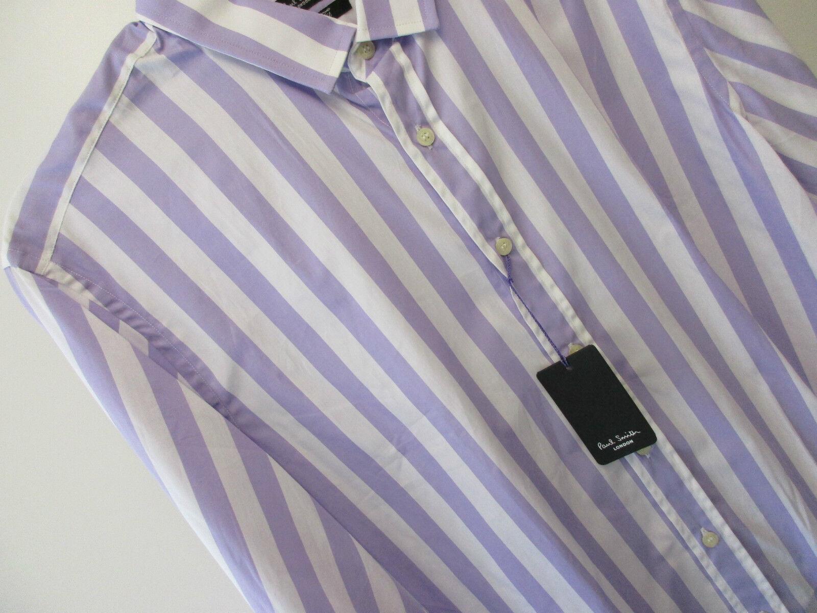 Paul Smith Camicia Formale Slim Fit 16  EU41 Londra Mauve candy-stripe RRP
