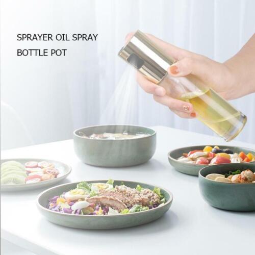 Botella De Spray Para Aceite De Oliva Dispensador Vidrio Comida Saludable Cocina