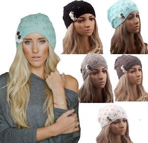 Women-Girl-Kid-Boho-Winter-Warm-Beret-Baggy-Ski-Crochet-Knit-Beanie-Hats-Cap