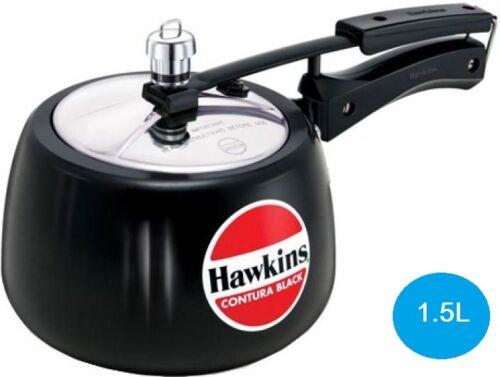 Hawkins Pressure Cooker Contura Black 5Ltrs 3Ltrs 1.5L 2 L 6.5 L Hard Anodised